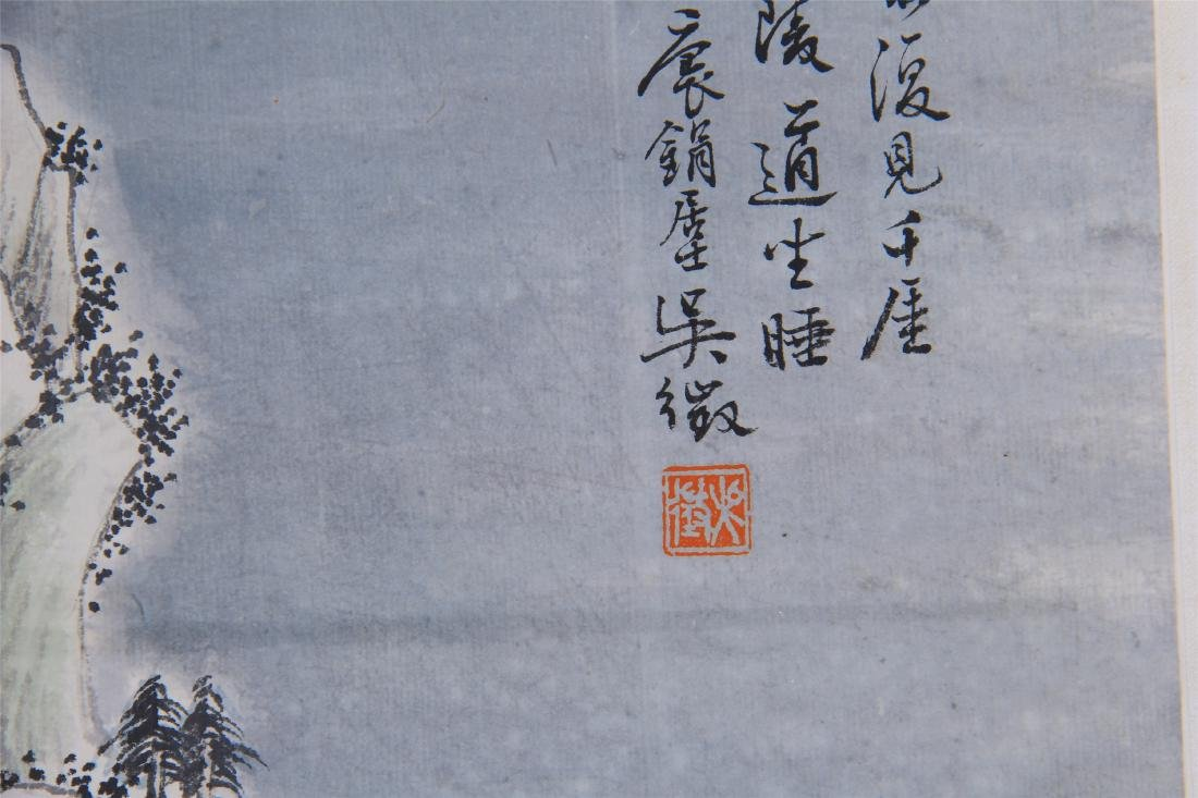 CHINESE SCROLL PAINTING OF MOUNTAIN VIEWS - 7