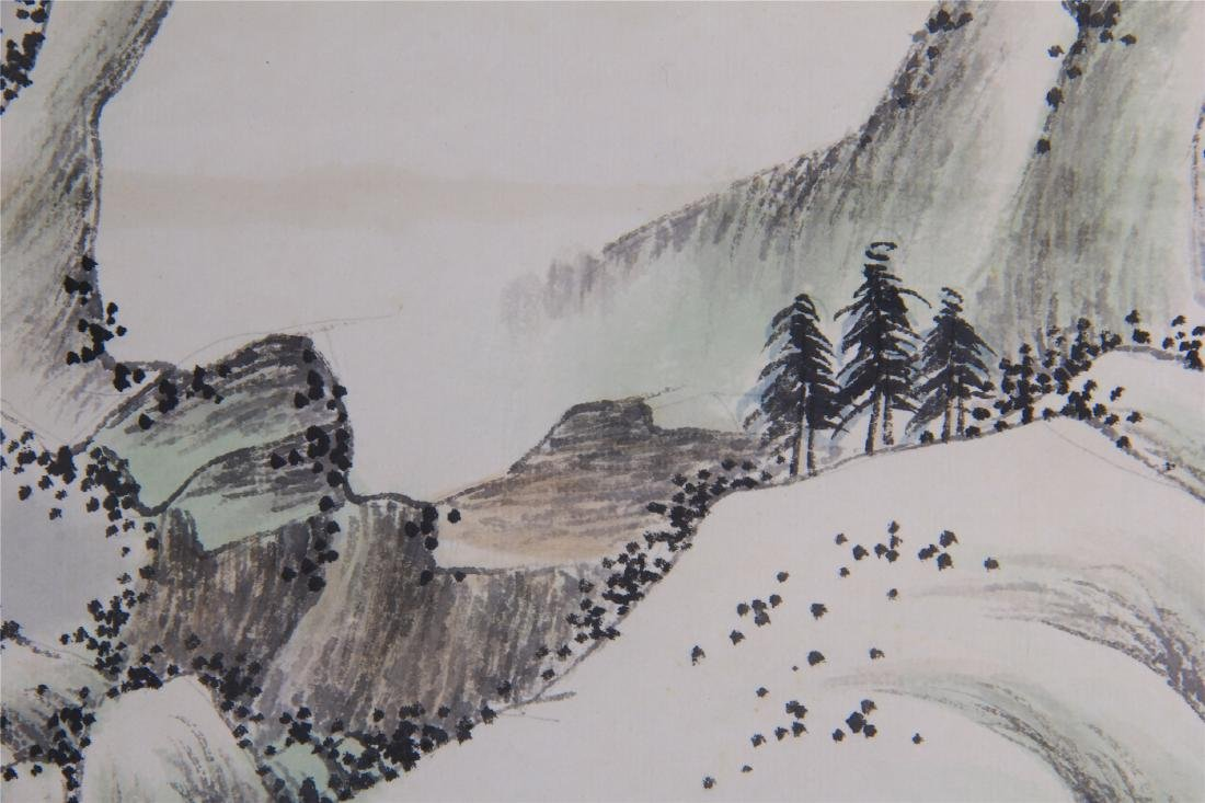 CHINESE SCROLL PAINTING OF MOUNTAIN VIEWS - 8