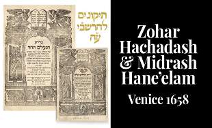 Zohar Chadash & Midrash Hane'elam with Comments by