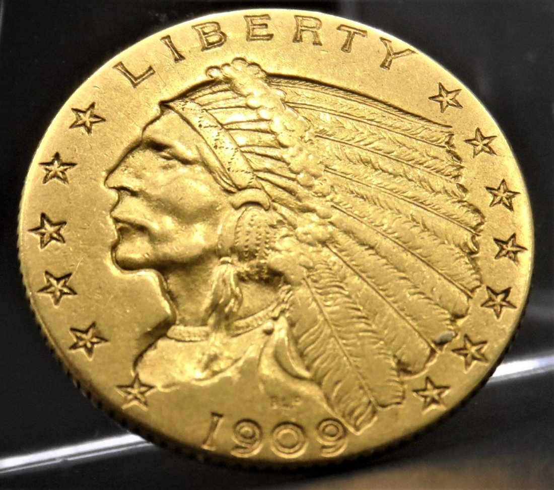 1909 Indian Head $2.5 Gold Coin