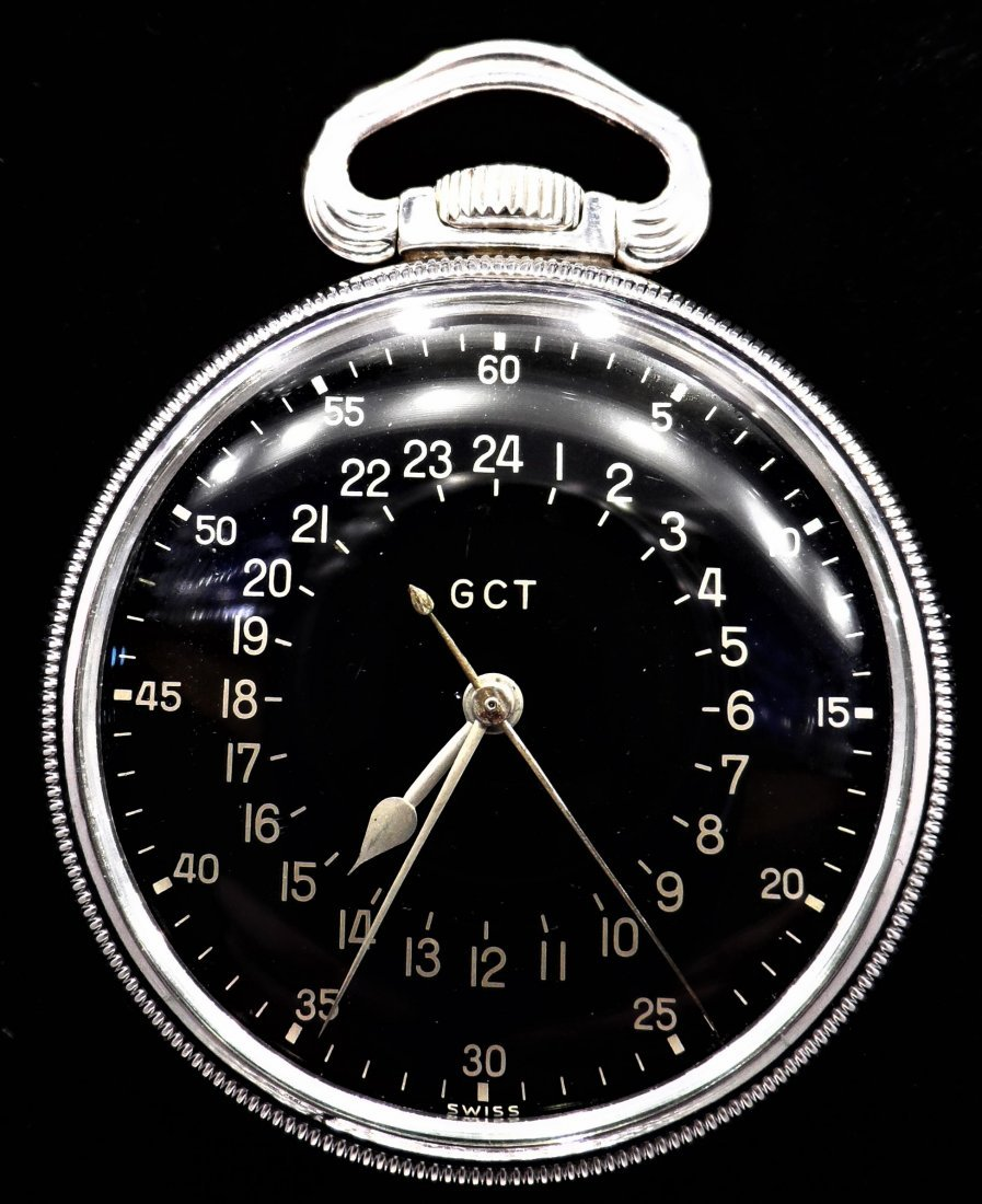 Longines Sterling Silver Pocket Watch Military Rare
