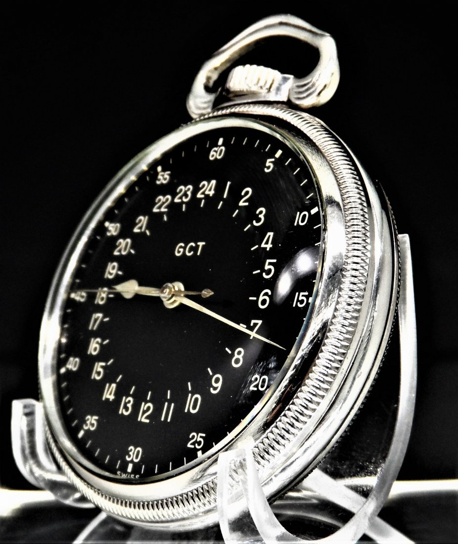 Longines Sterling Silver Pocket Watch Military Rare - 2