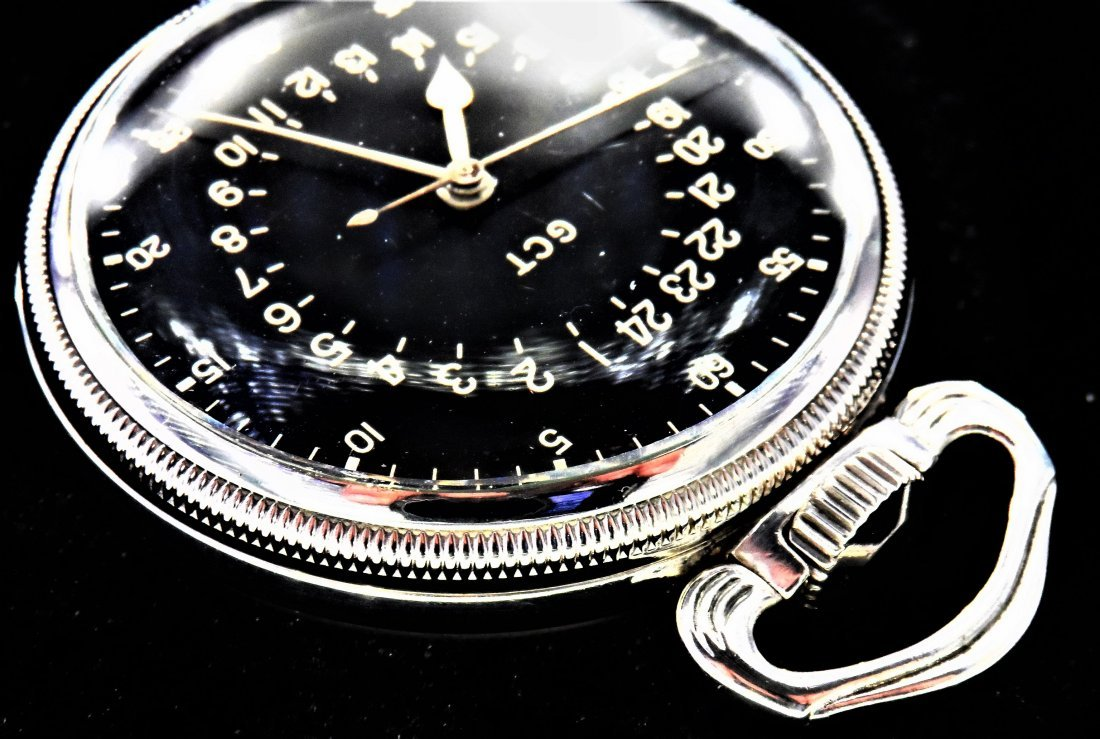 Longines Sterling Silver Pocket Watch Military Rare - 7