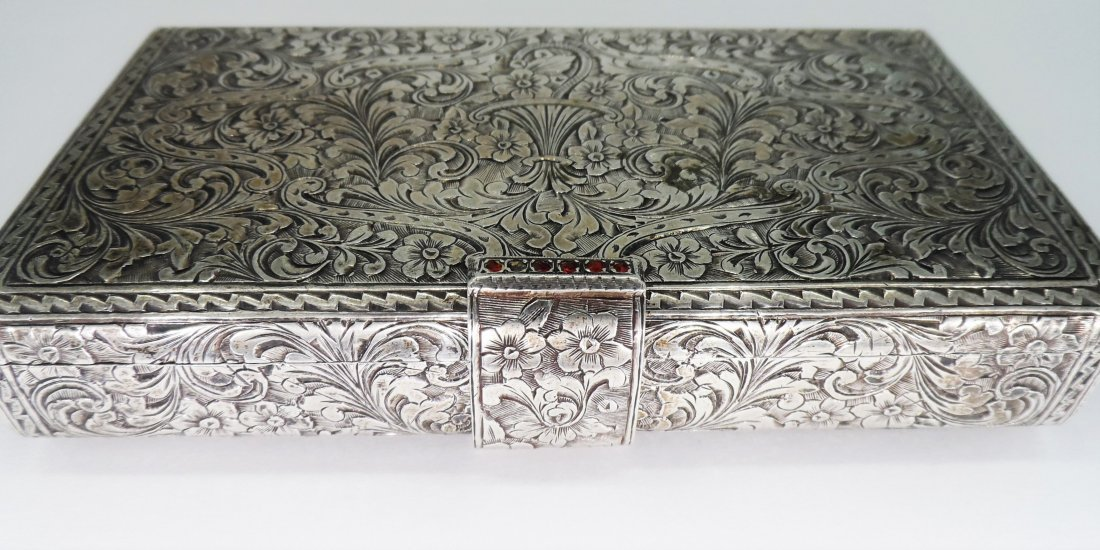 Sterling Silver compact case 9oz .800