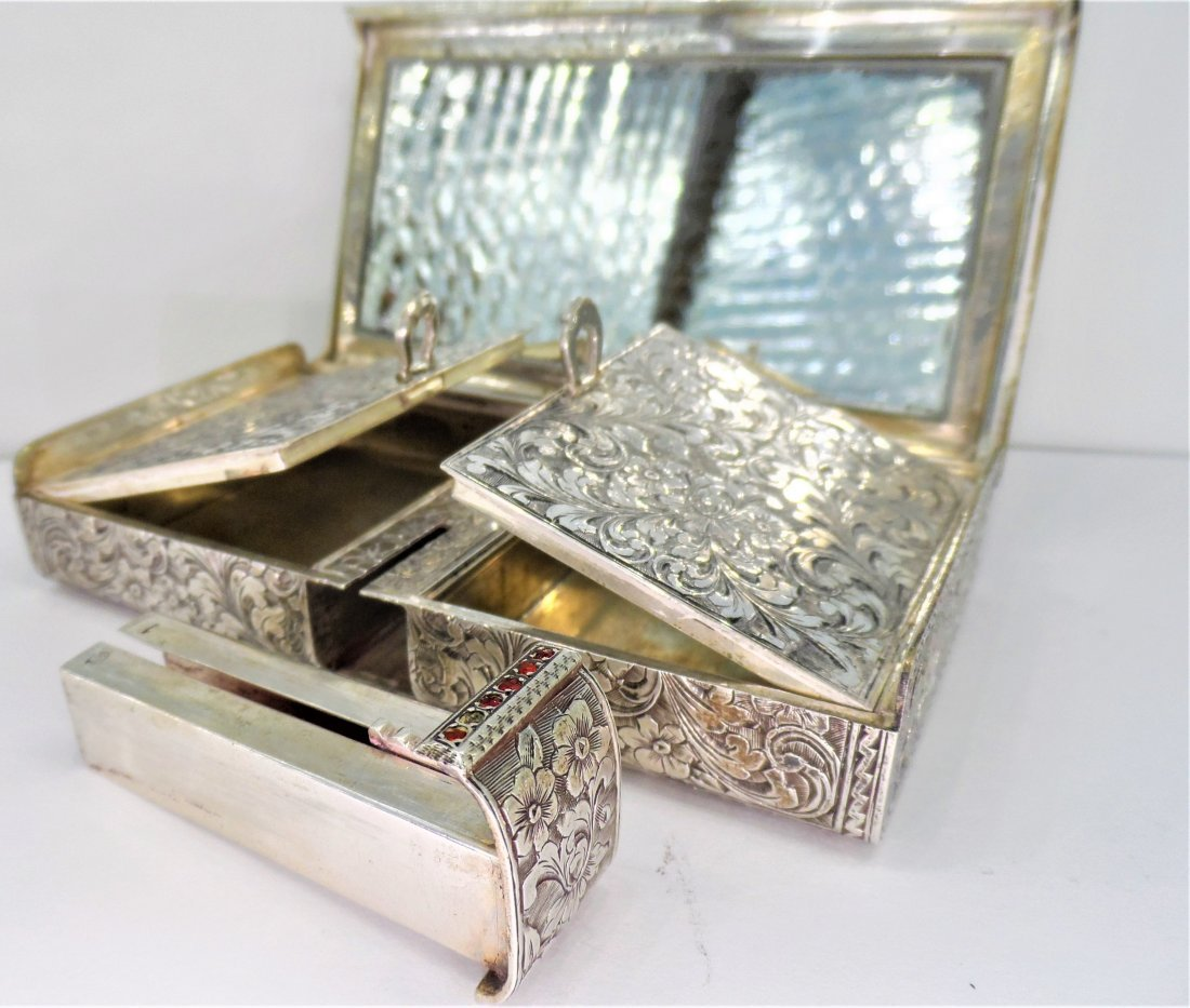 Sterling Silver compact case 9oz .800 - 3