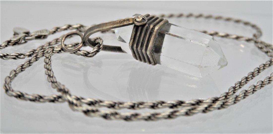 Sterling Silver Necklace Quartz stone
