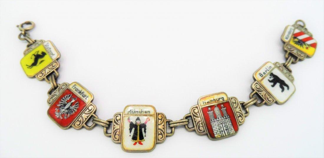 Sterling Silver German Charm Bracelet
