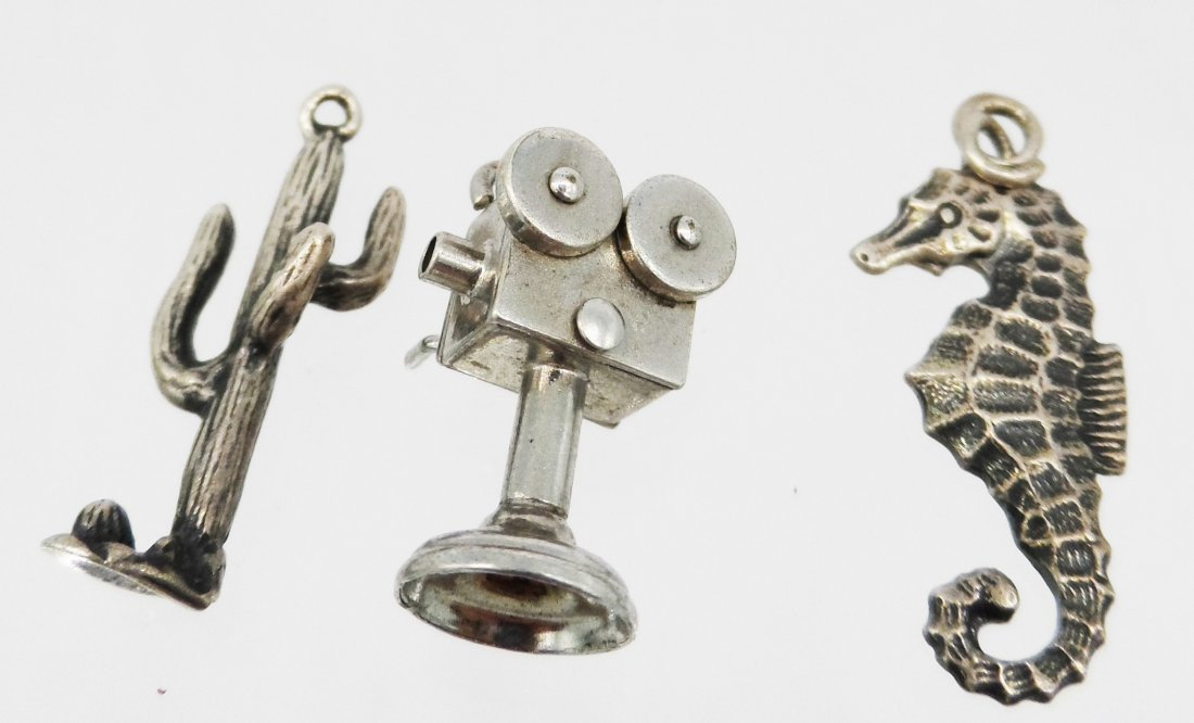 Sterling Silver Bracelet Charms seahorse projector