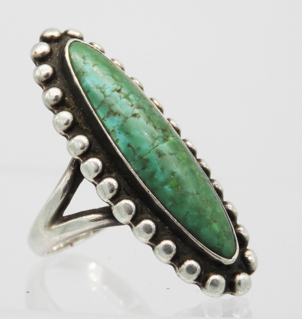 Sterling Native American Navajo Fred Harvey Ring Signed
