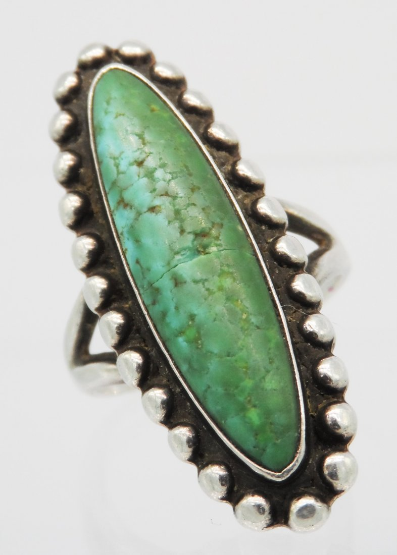 Sterling Native American Navajo Fred Harvey Ring Signed - 2
