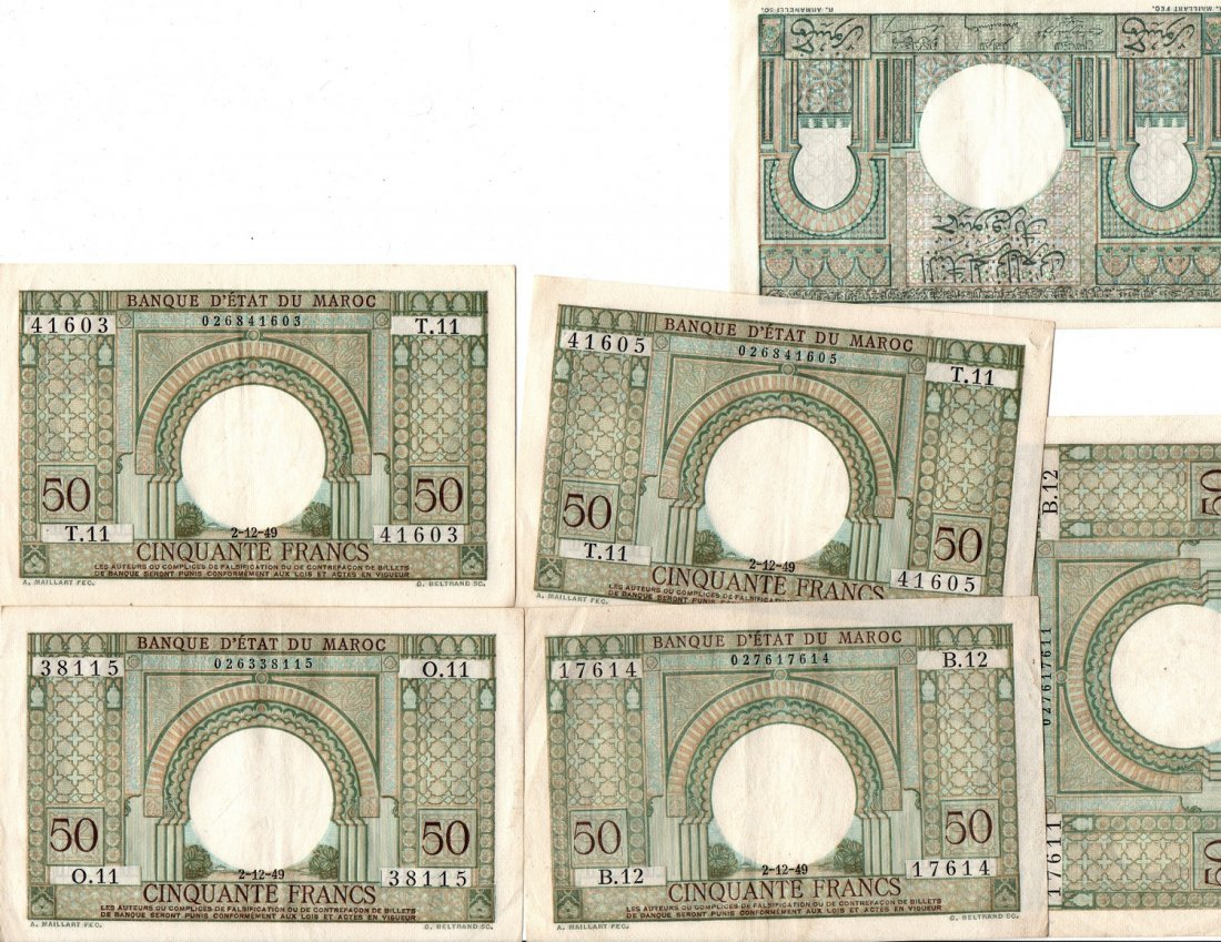 Paper Money Lot FRANCS, LIRE Bank Notes Currency World - 6
