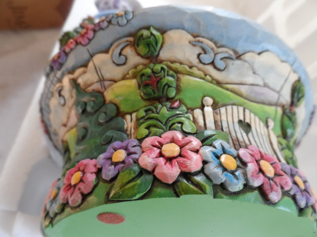Jim Shore Blossoms of Spring Easter Basket Eggs - 4