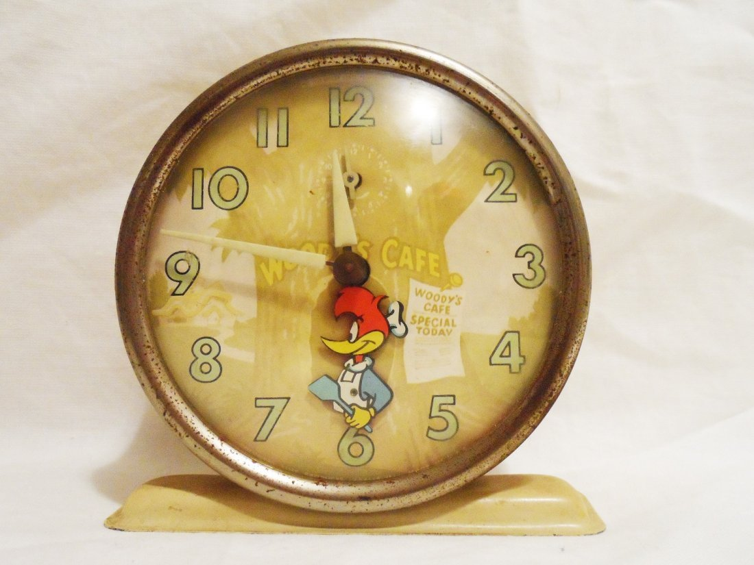 Woody\'s Cafe Alarm Clock Vintage