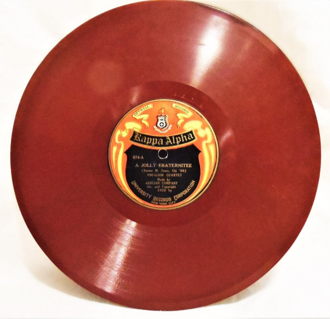 78 RPM RECORD KAPPA ALPHA NEW YORK UNIVERSITY 1922