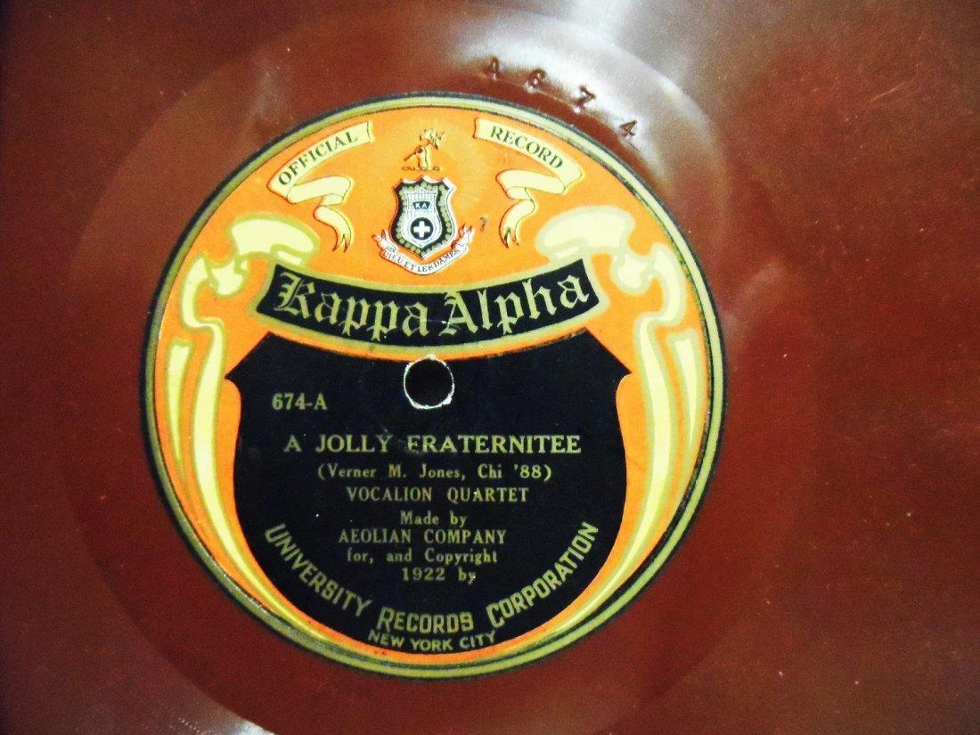 78 RPM RECORD KAPPA ALPHA NEW YORK UNIVERSITY 1922 - 2