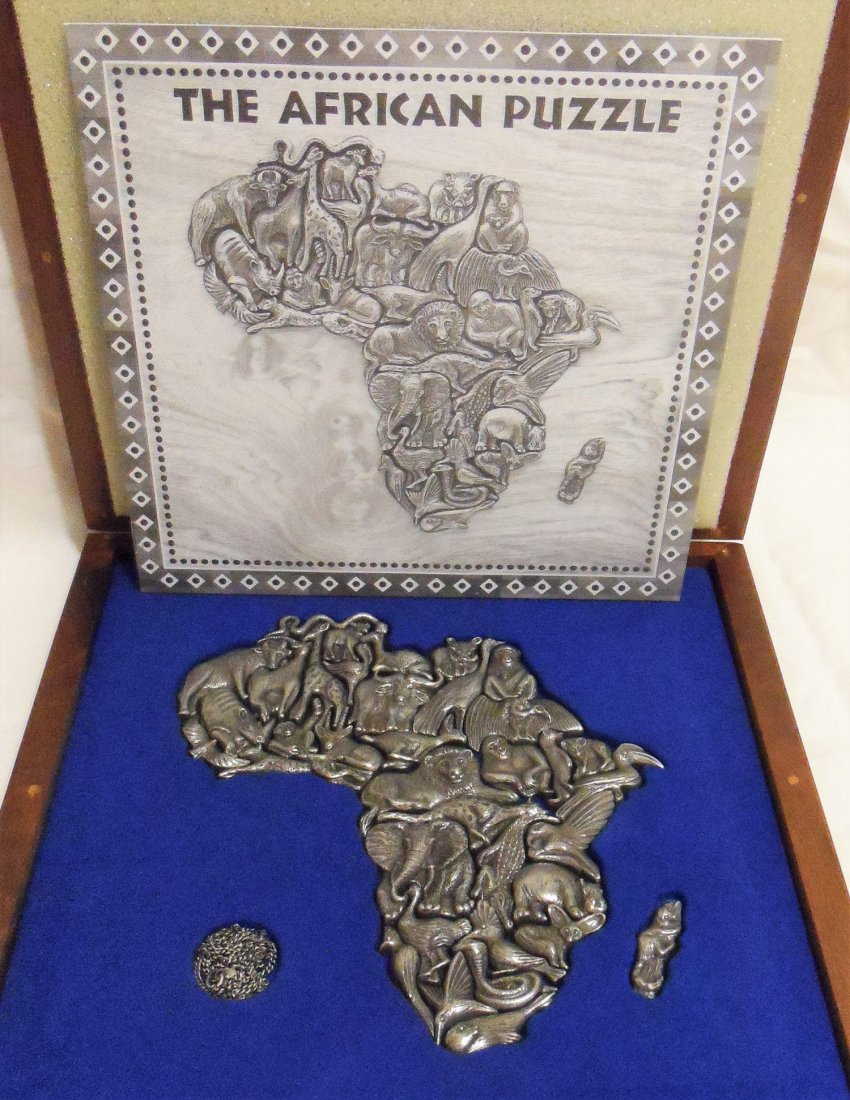 Rare African Pewter Puzzle Made by Jewelers