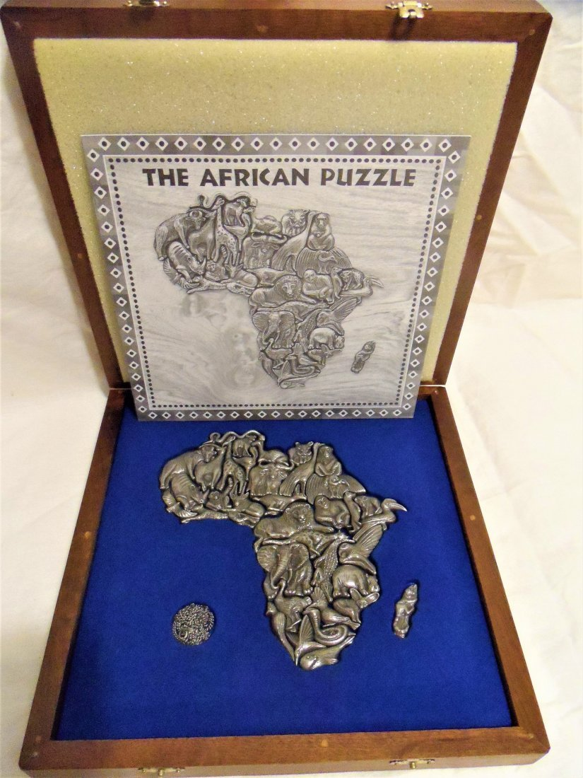 Rare African Pewter Puzzle Made by Jewelers - 2