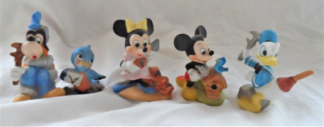 Walt Disney Productions Ceramic Figures Grouping
