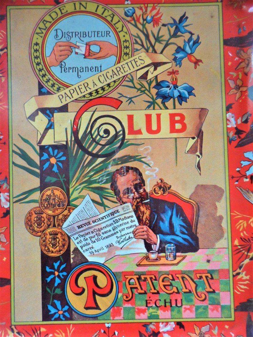 Rare Papier Cigarettes Italy Club Tin Tray - 2