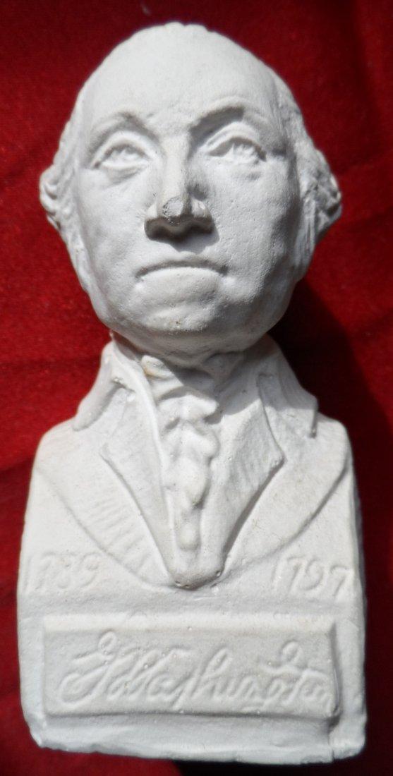 Plaster Figure Bust George Washington President