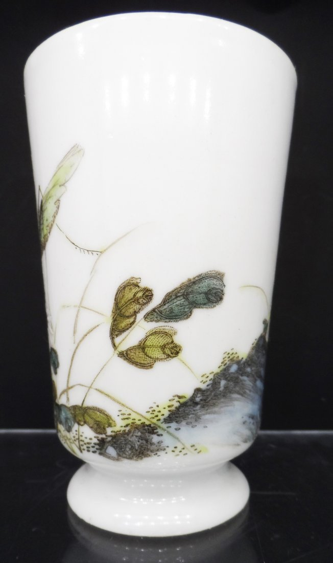 Chinese Painted Porcelain Vessel Cup - 2