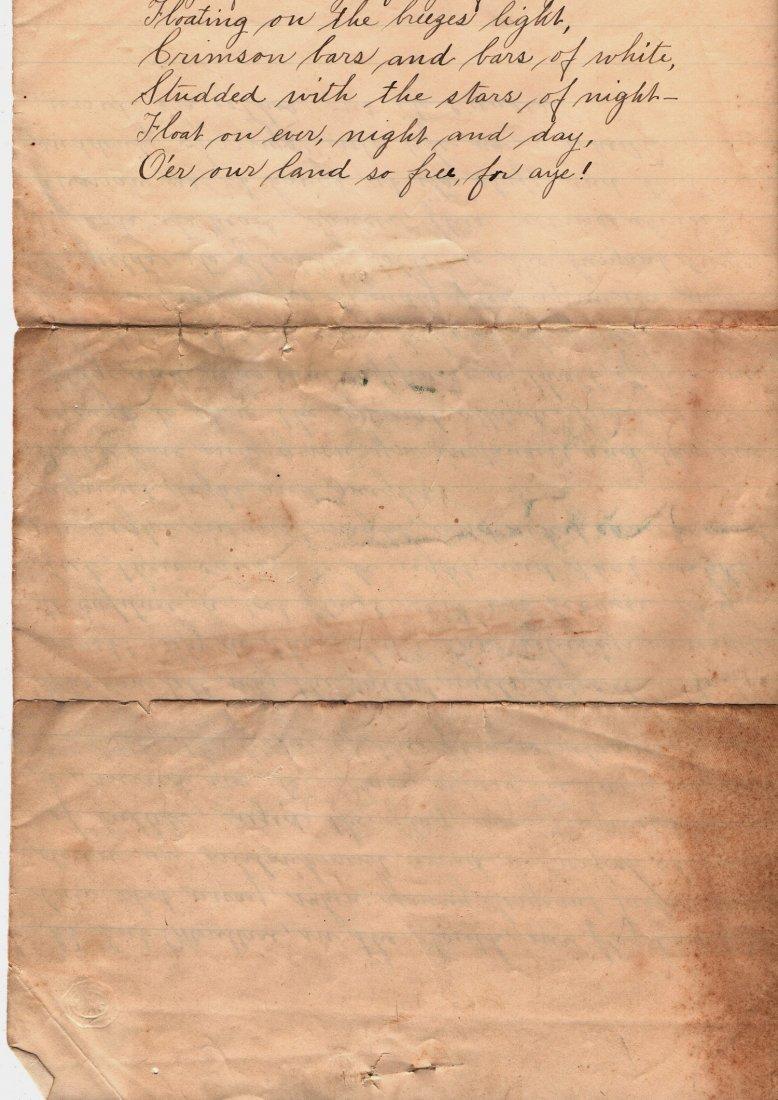 1890 Letter History of Our Flag Gettysburg Ephemera - 4