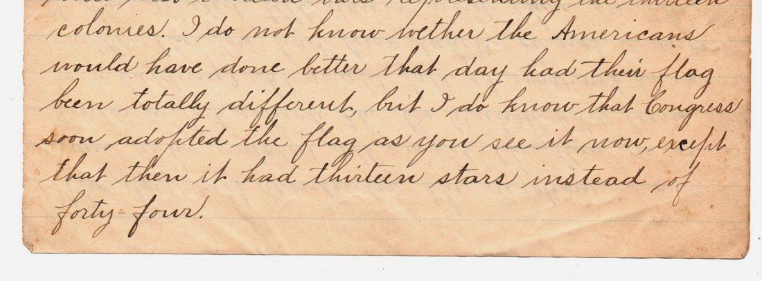 1890 Letter History of Our Flag Gettysburg Ephemera - 5