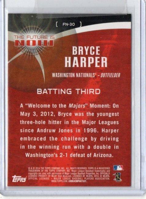 Bryce Harper Topps Baseball Card FN-30 - 2