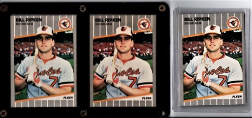 Bill Ripken Error Cards Baseball Card Lot Trio