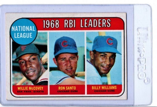 1968 RBI Leaders Baseball Cards Willie McCovey