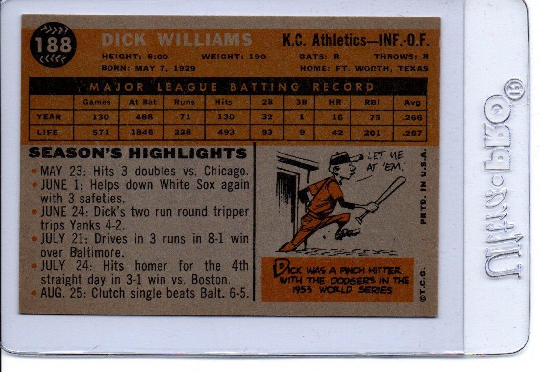 Dick Williams Baseball Card Old Very Nice Sports Card - 2