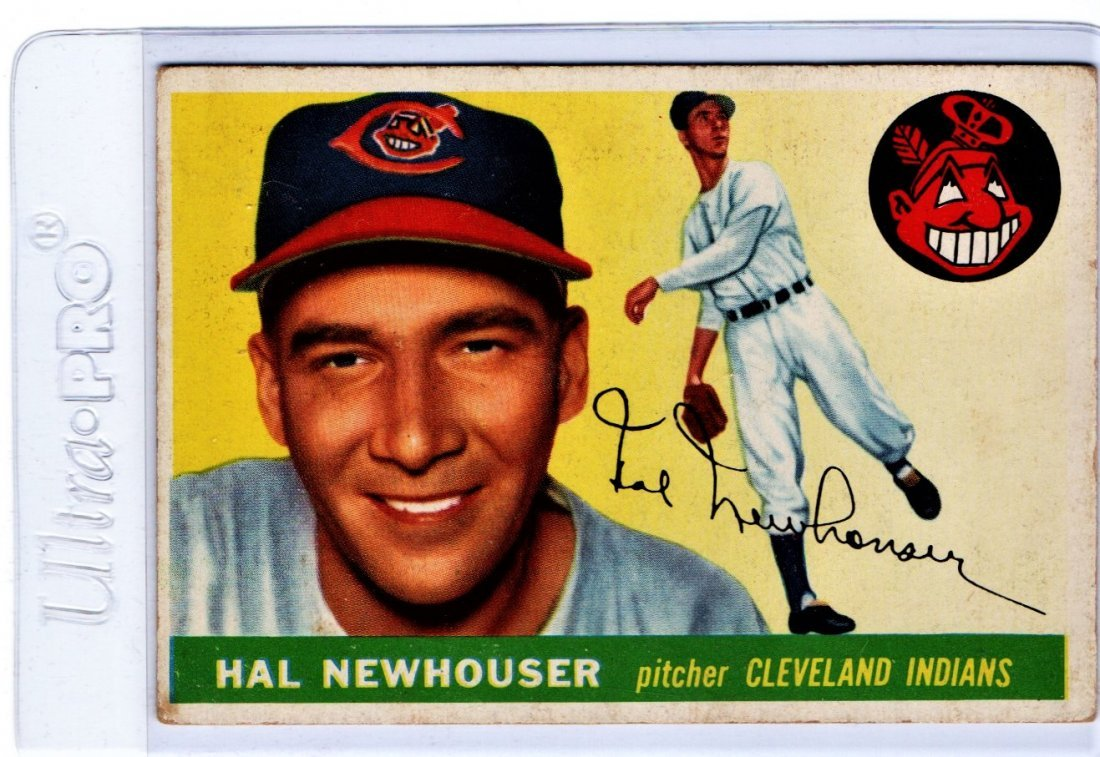 Hal Newhouser Baseball Card Old Indians Sports Card