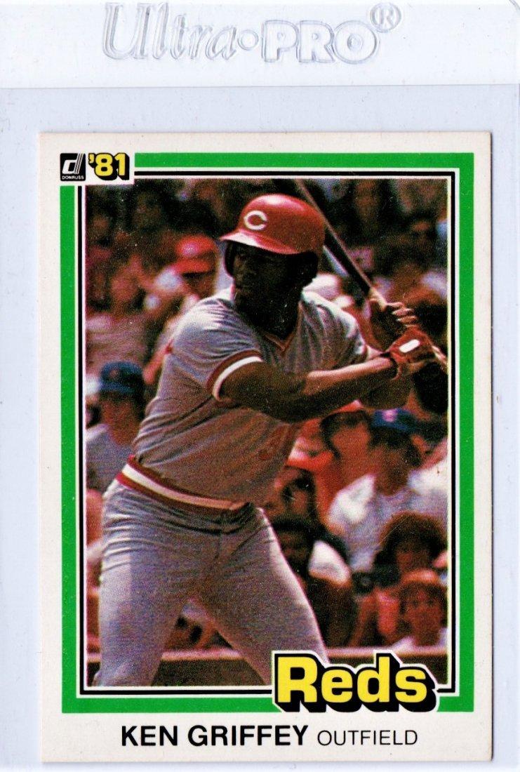 1981 Ken Griffey Donruss 184 Baseball Card Sports Card