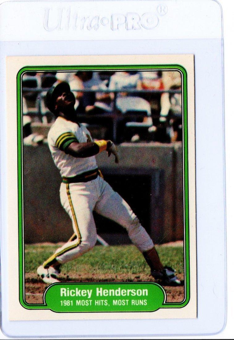 Rickey Henderson Baseball Card 643 Sharp Card
