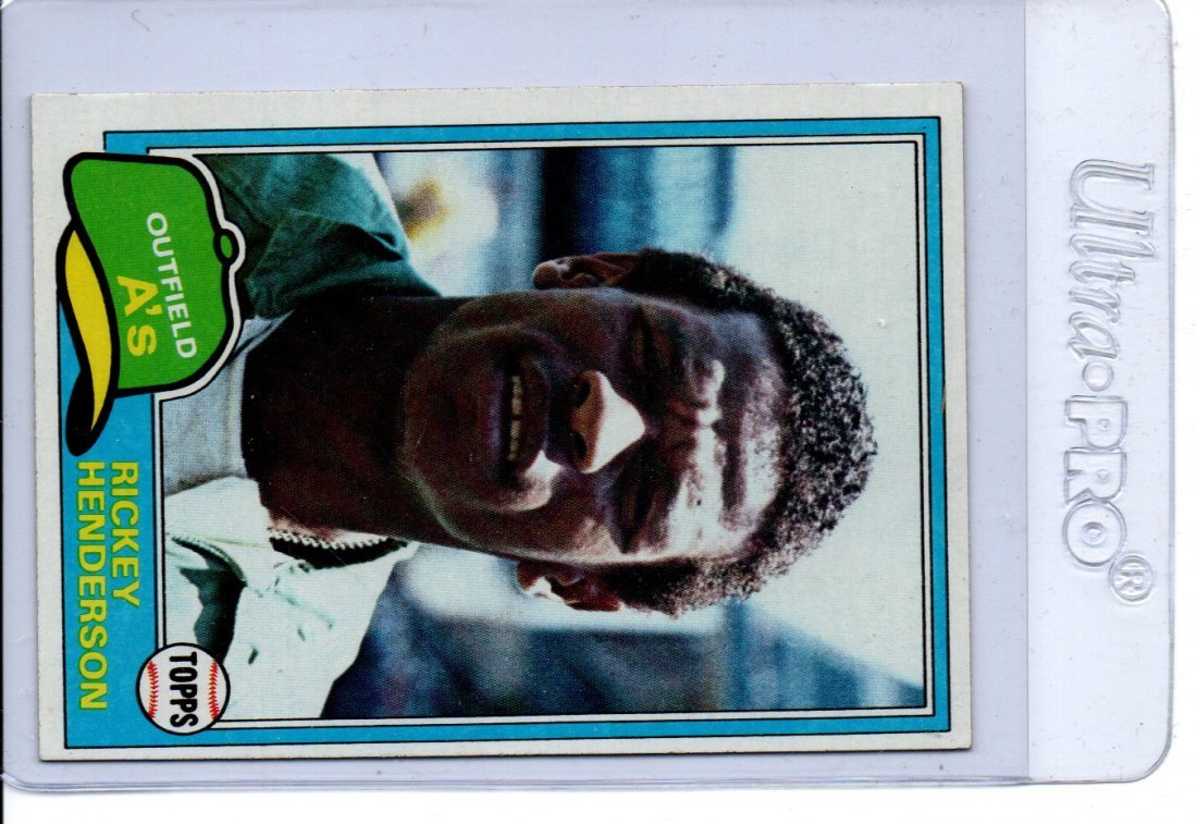 Rickey Henderson Baseball Card 643 Topps Sharp