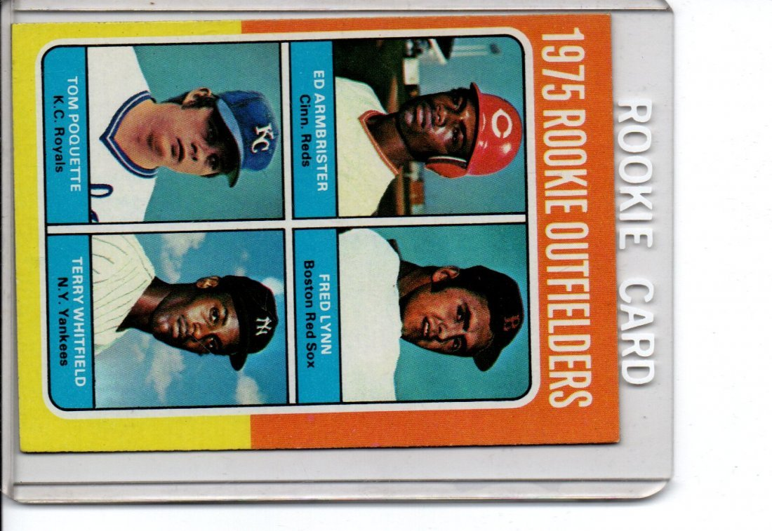 1975 Topps Baseball Card Rookie Outfielders Sharp Card
