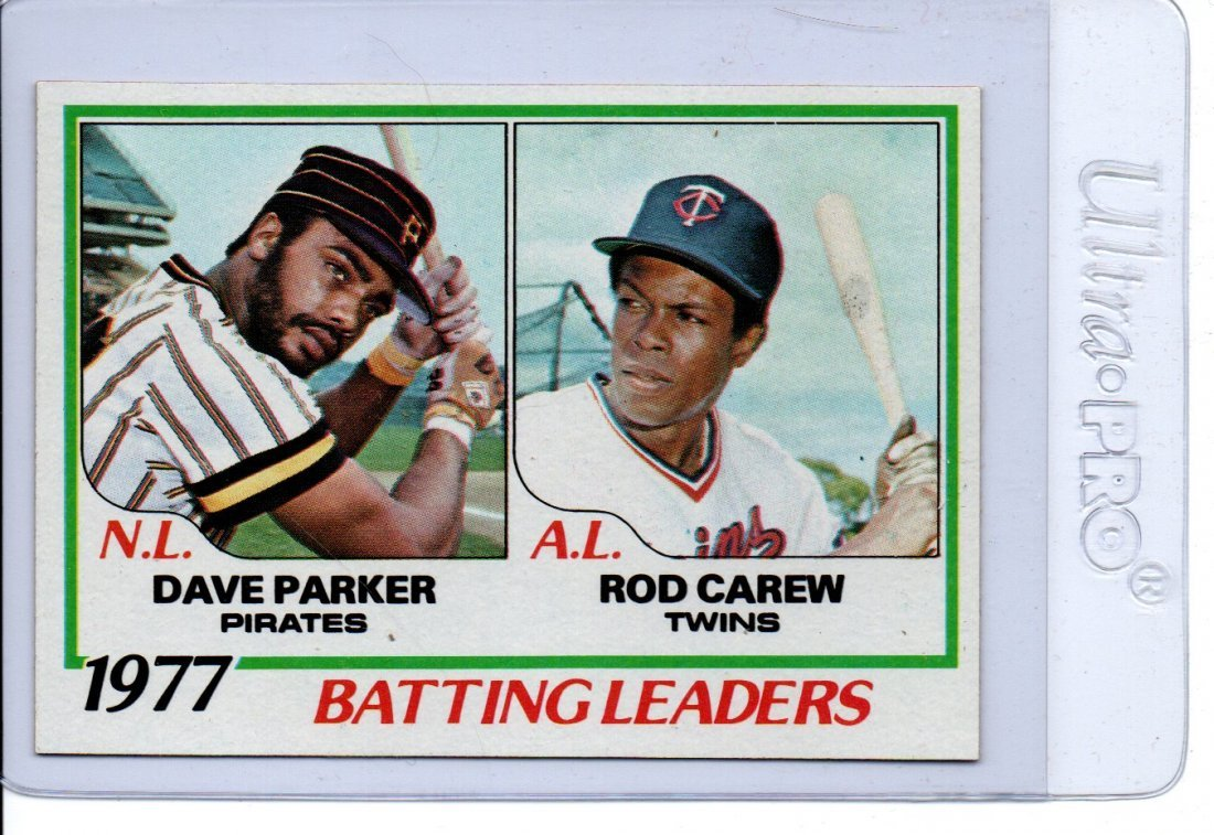 1977 Batting Leaders Baseball Card SHARP! Sports