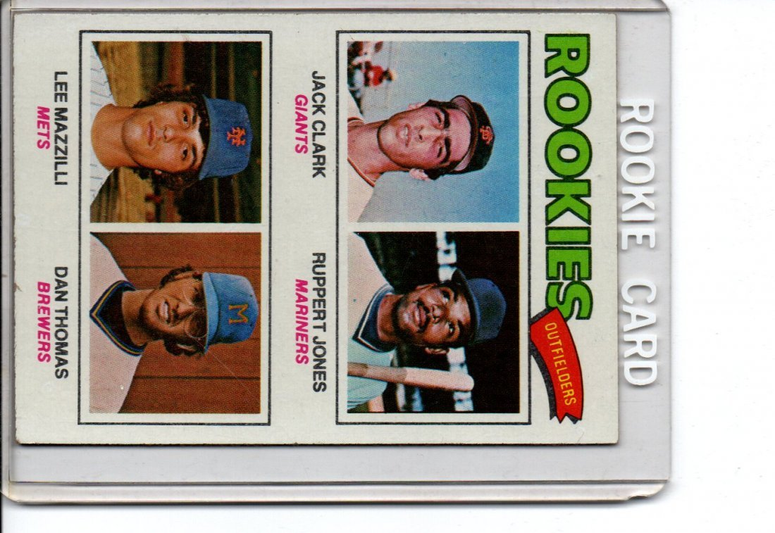 1977 Rookie Outfielders Baseball Card