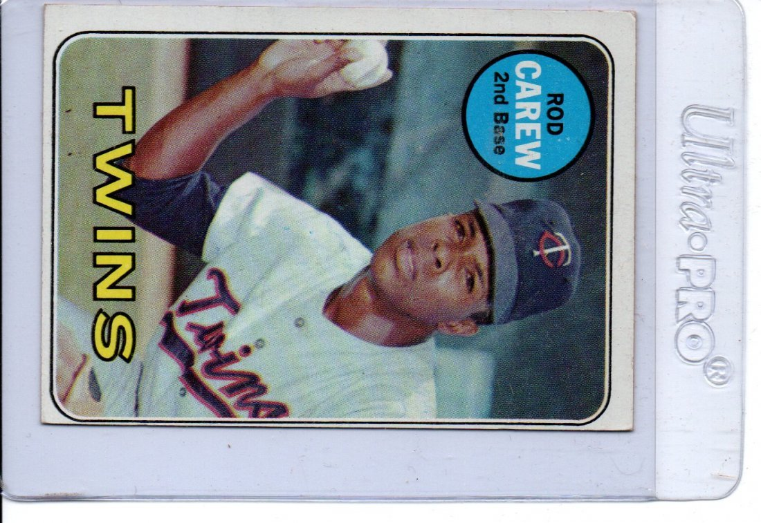 1969 Rod Carew Twins Baseball Card Sports