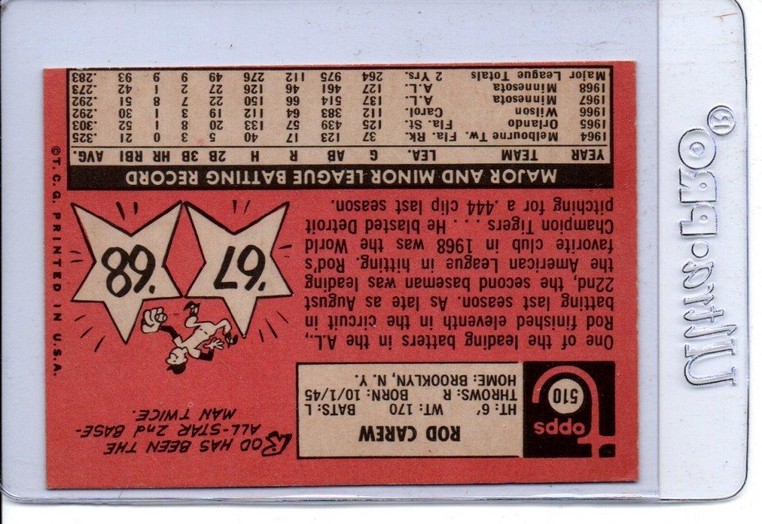 1969 Rod Carew Twins Baseball Card Sports - 2