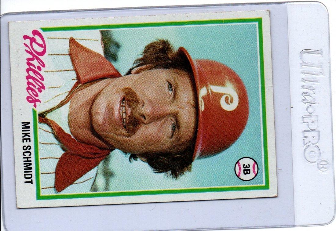 1977 Mike Schmidt Phillies Baseball Card Sports
