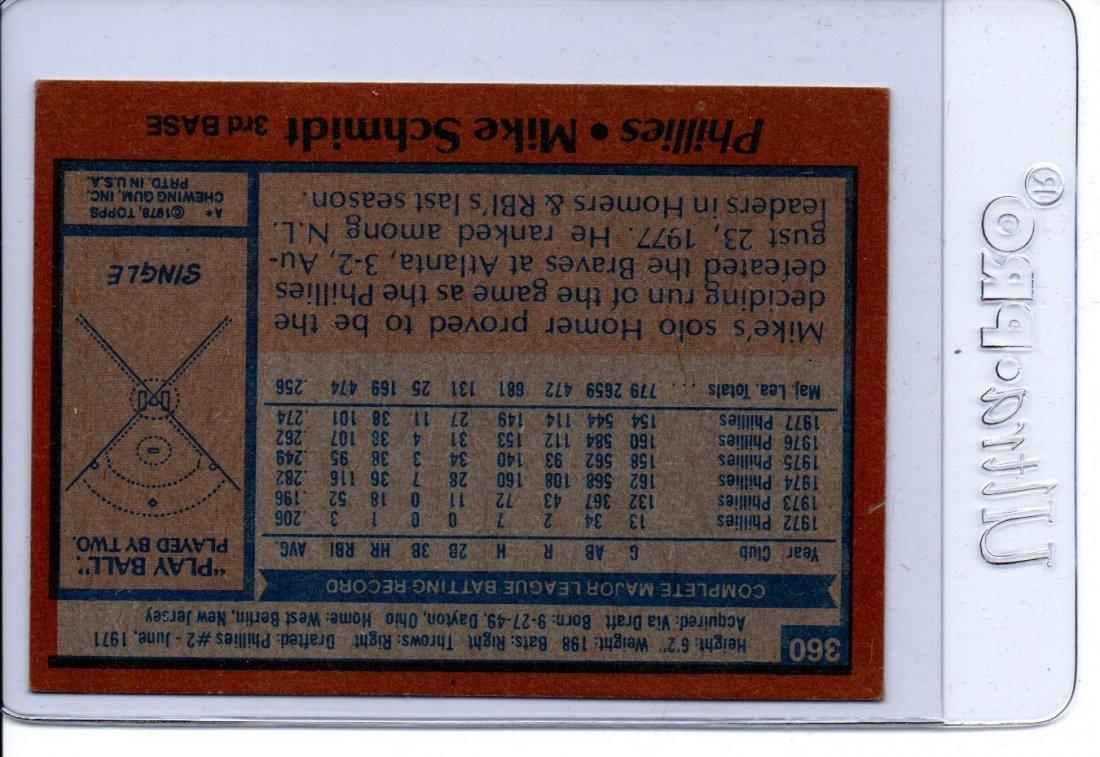 1977 Mike Schmidt Phillies Baseball Card Sports - 2
