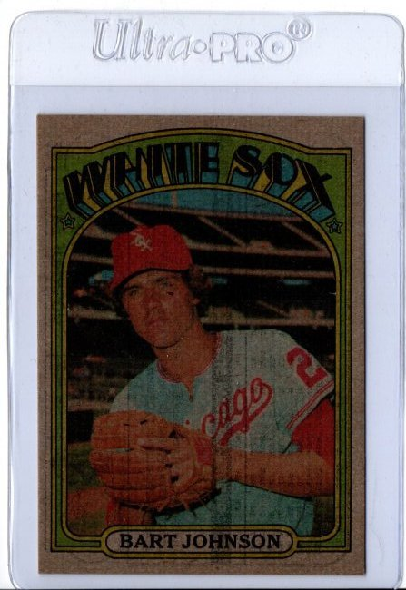 1972 Topps Bart Johnson #126 Baseball Card ERROR RARE