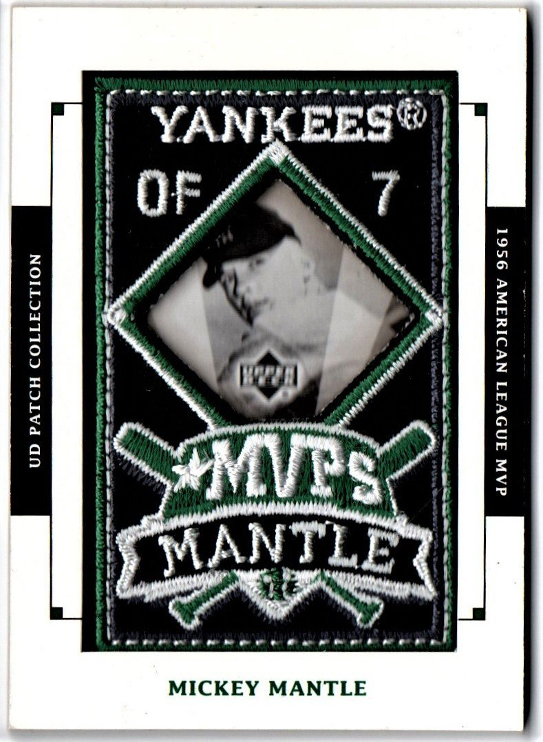 Mickey Mantle Baseball Card UD Patch Collection Sports