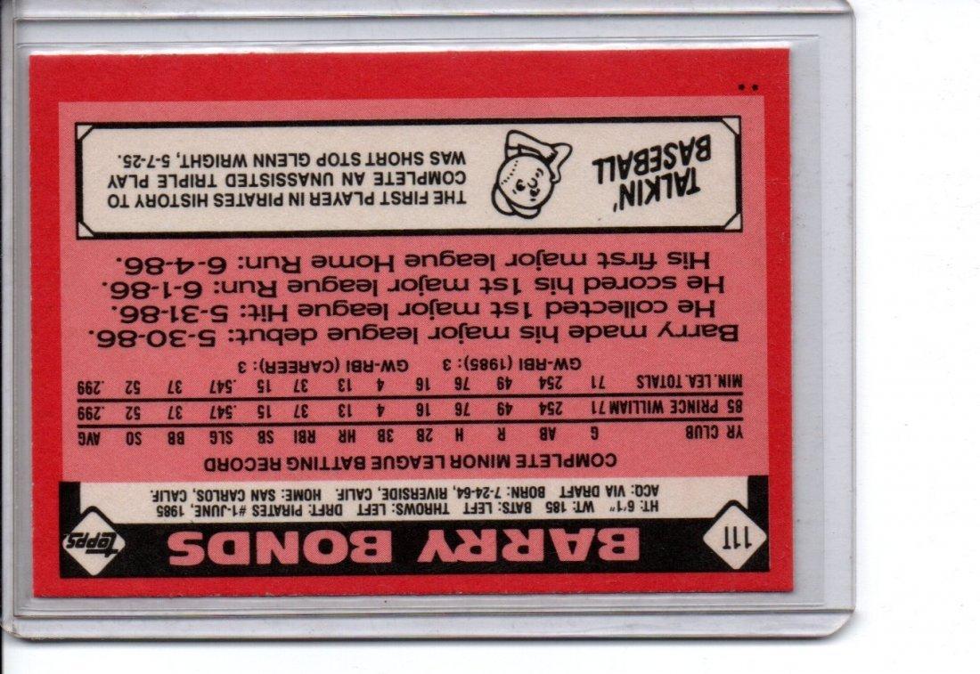 1985 Barry Bonds Baseball Card Sports - 2