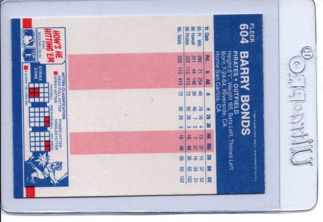 Barry Bonds Baseball Card Sports - 2