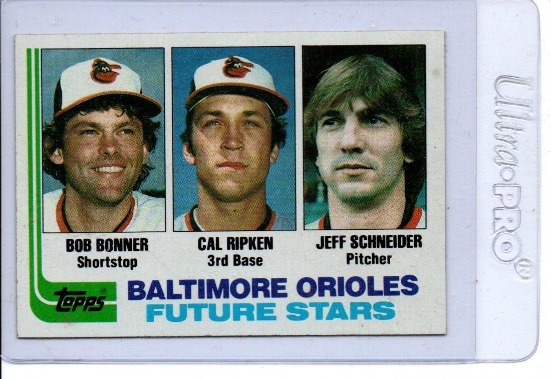 1982 Topps Baseball Card Baltimore Orioles