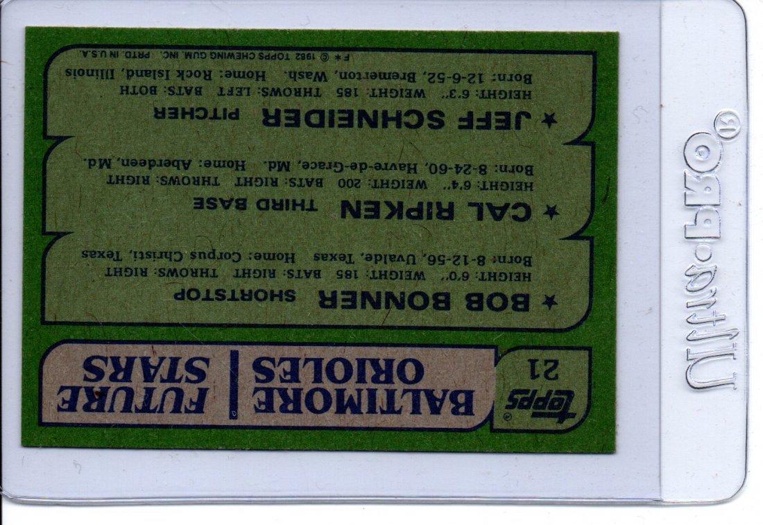 1982 Topps Baseball Card Baltimore Orioles - 2