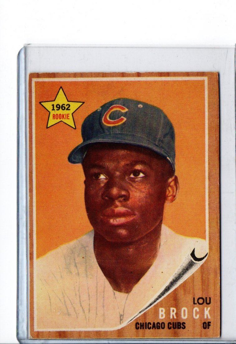 Baseball Card Lou Brock 1962 Rookie Topps 387