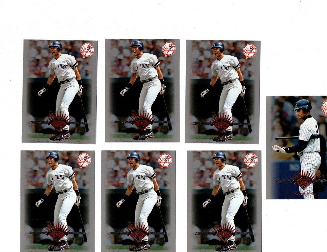 Derek Jeter Baseball Card Lot Sports New York Yankees